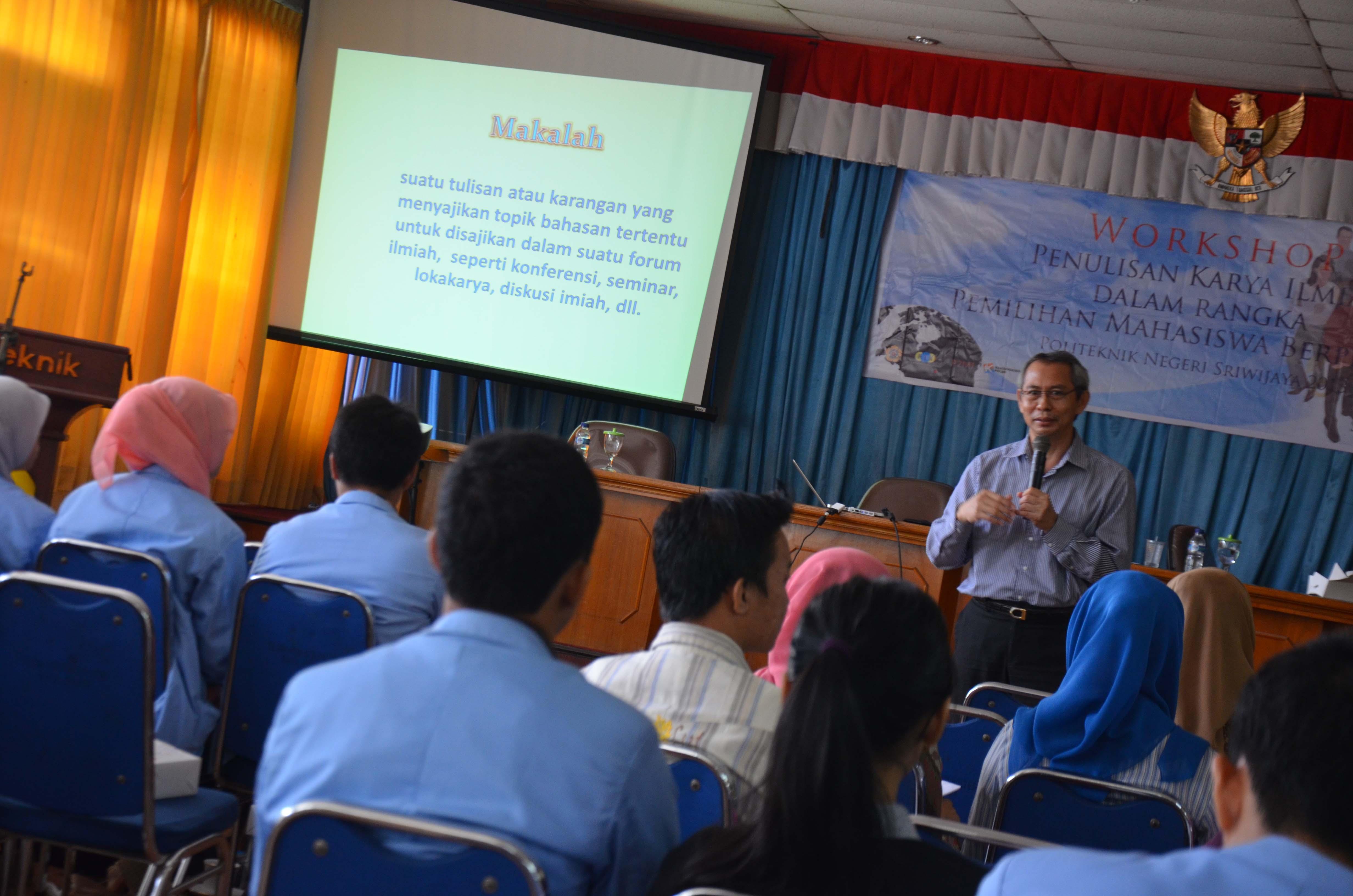 Workshop Pemilihan Mahasiswa Berprestasi 2013
