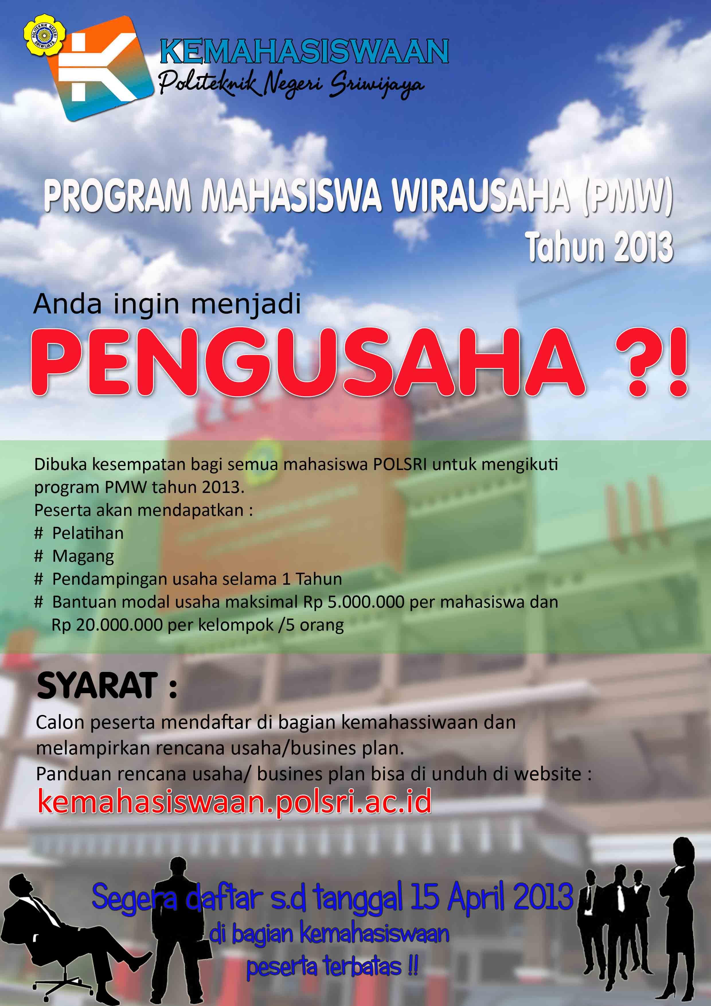 Penawaran Program Mahasiswa Wirausaha (PMW)