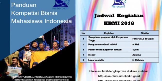 KOMPETISI BISNIS MAHASISWA INDONESIA (KBMI) 2018